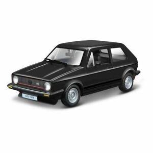 BBURAGO-1-24-VOLKWAGEN-VW-GOLF-MK-1-1979-Nero-Die-cast-metal-model-car