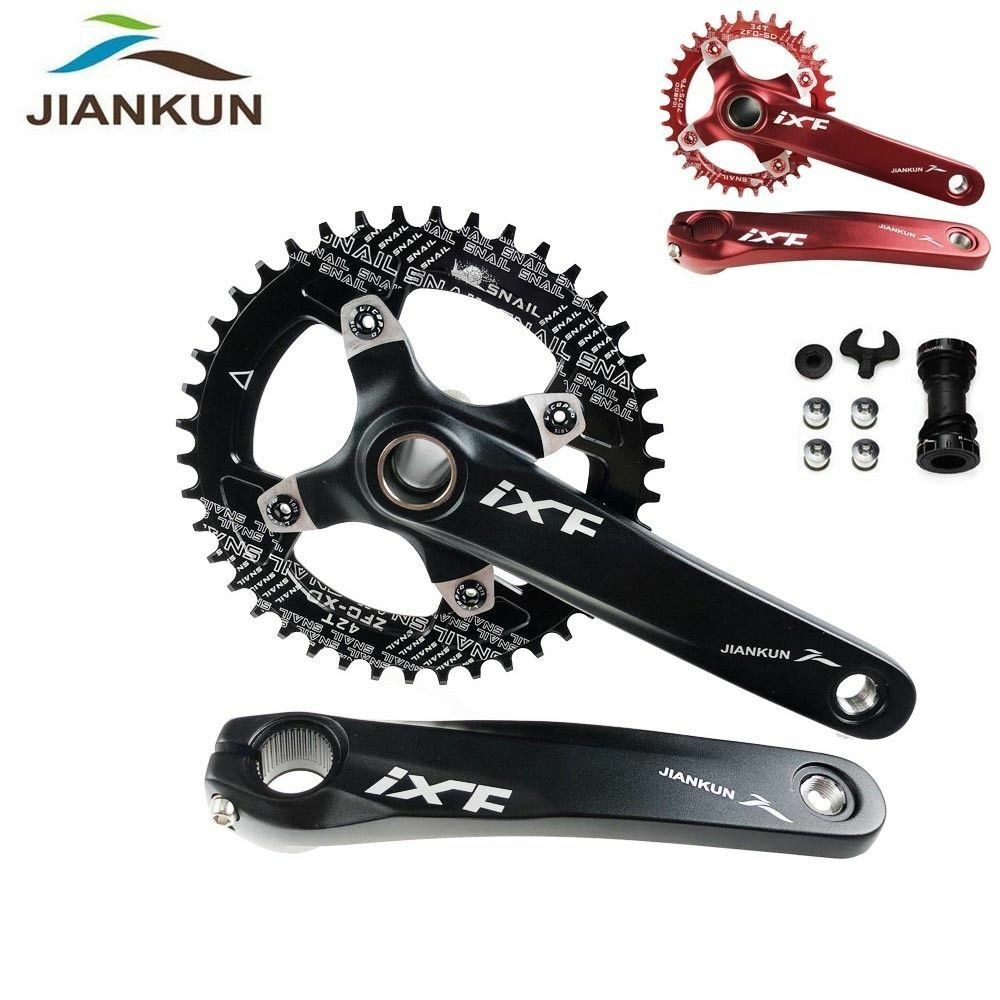 SNAIL 170mm Crank Set 104bcd MTB Bike Crankset Narrow Wide Chainring BB 32-42T