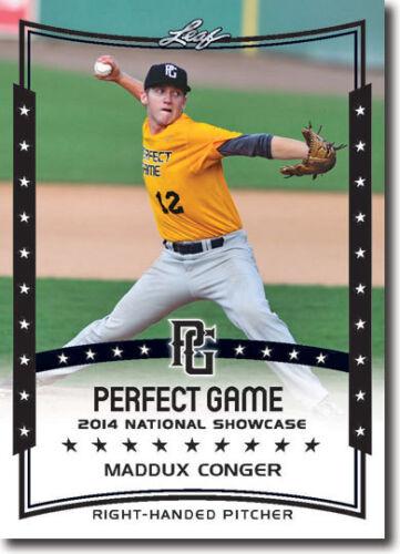 MADDUX CONGER 2014 Leaf *PERFECT GAME*  Baseball Rookie RC LOT 12
