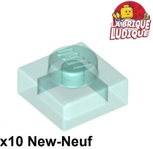 Lego 10x Flat Modified 1x1 Light Blue Clear Trans Light Blue 3024 New