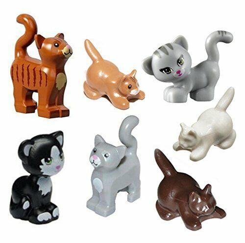 "LEGO NEW Friends WHITE CAT /""JEWEL/"" Sitting Pet Kitten Kitty Animal Minifigure"