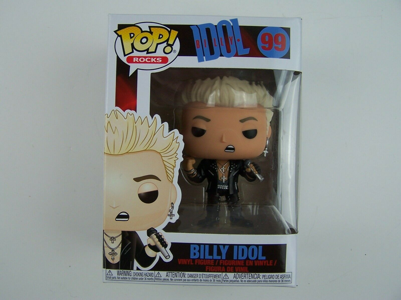 Funko POP! Rocks: Billy Idol Figure #99 New In Box