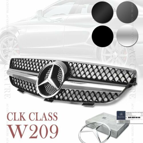MERCEDES BENZ W209 CLK HOOD SPORT FRONT GRILL GRILLE CLK500 CLK320 AMG 4 STYLES