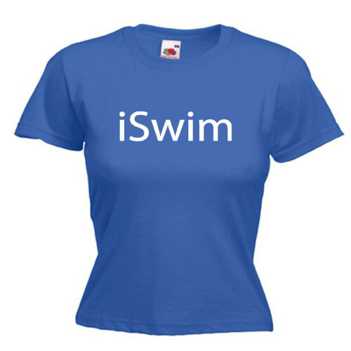 Swim Swimming Ladies Lady Fit T Shirt Size 6-16