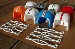 1964-RARE-AFL-UNUSED-Vintage-mini-gumball-football-helmets-Go-with-the-Pros-NFL