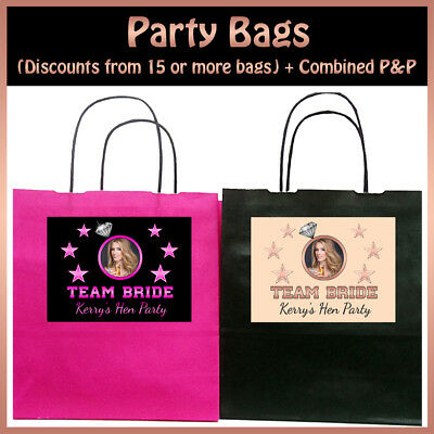 Hen Party Bags Team Bride Personalised Hen Party Bags