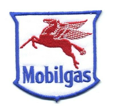 Patch Iron on Mobil Mobilgas Pegasus Motor Oil T shirt Vest Emblem Advertising
