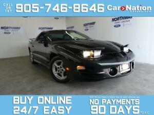 2002 Pontiac Firebird TRANS AM | V8 | T-TOPS | LEATHER | RARE! | LOW KM