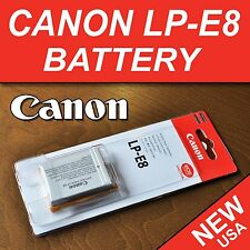 NEW LP-E8 Rechargeable Li-ion Battery Pack for Canon Rebel T2i, T3i, T4i, T5i