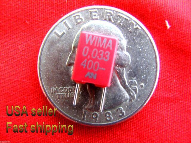 LOT 50 .033uF .033 uF 50V 10/% Radial Film Capacitors