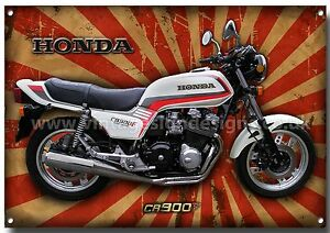 Honda Cb 900f Motorcycle Metal Sign Classic Retro Japanese Bike