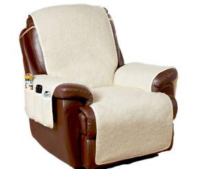 Amazing Details About Fleece Armchair Chair Cover Furniture Protector With 6 Storage Pockets Spiritservingveterans Wood Chair Design Ideas Spiritservingveteransorg
