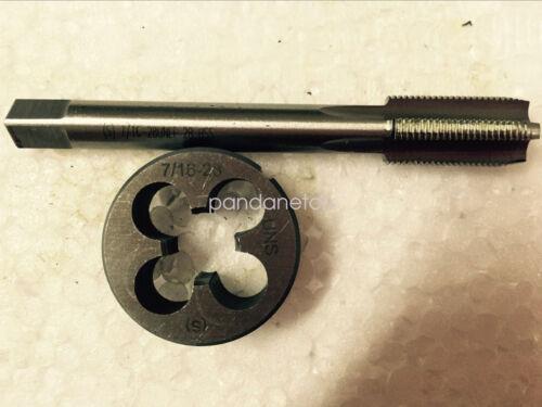 1pc HSS Machine 7//16-28 UNEF Plug Tap and 1pc7//16-28 UNS Die Threading Tool