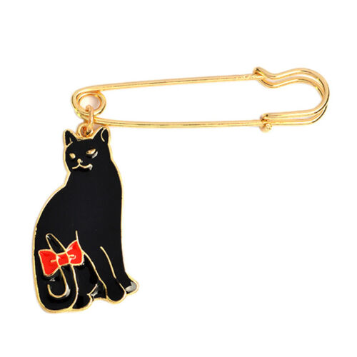 Esmalte Colgante Gato Animal Broche Pin Camisa cuello pin corbata womenjewelry 0c