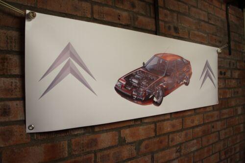 Citroen XM large pvc  WORK SHOP BANNER garage  SHOW banner