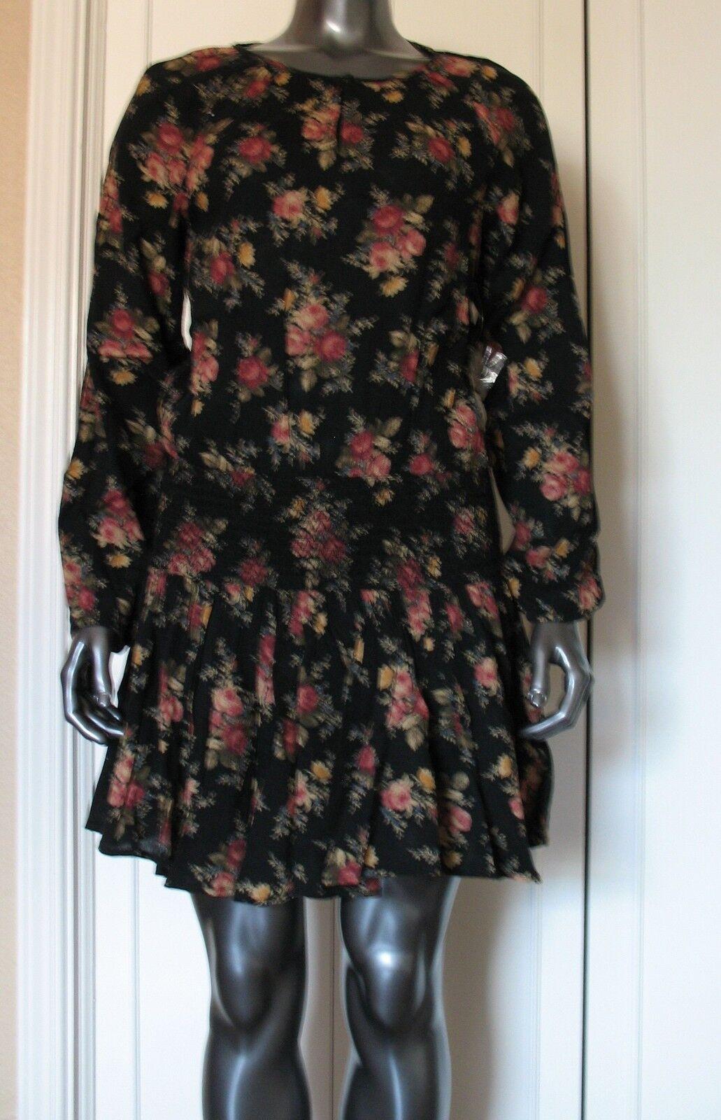 DENIM & SUPPLY  RALPH LAUREN    FLORAL PRINT  LONG SLEEVE  DRESS Größe  S