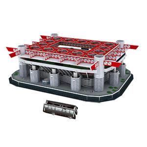 Assemblaggio-modello-campo-da-calcio-fai-da-te-Stadio-San-Siro-Puzzle-Craft-Art