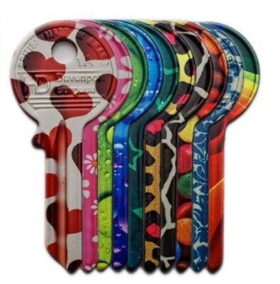 UNIVERSAL UL2 *FUNKEY* Flirty Heart Flow Design key blanks Multicoloured UNCUT