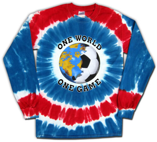 Soccer USA World Cup One World Tie Dye T-Shirt Jersey Short or Long Sleeve