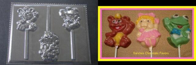 MUPPET BABIES Kermit Piggy Fozzie Lollipop Chocolate Candy Soap Clay Mold