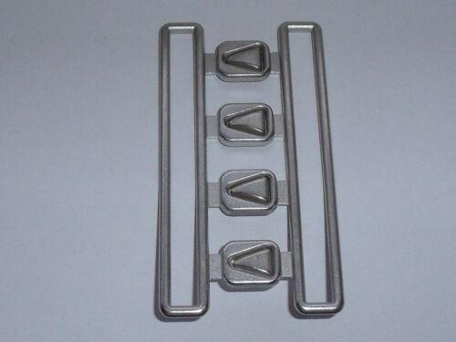 Adorno en la cintura cierro cierre de corchete 8 cm de plata mate mercancía nueva inoxidable #683#