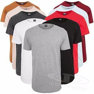 ad6d372d500e6a Urban Classics Herren T-Shirt Shaped Long Tee extra lang oversize ...