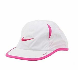 504ed8f7c Nike Girls Embroidered Swoosh Logo Dri-Fit Baseball Cap, White ...
