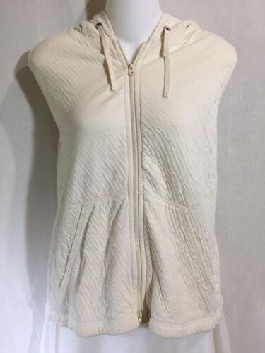 bianco Morbido Fisher S Eileen cappuccio cotone giacca cappuccio senza cardigan con con maniche UC1x5xnp