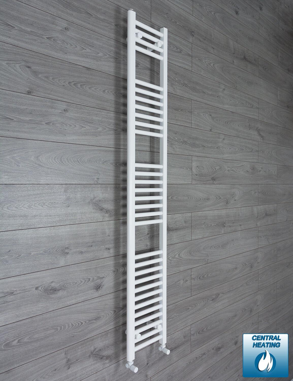 1800 mm haut 200 mm Large Blanc Plat Sèche-Serviettes Radiateur Salle de Bain Cuisine