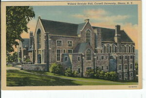 CI-251-NY-Ithaca-Cornell-University-Willard-Straight-Hall-Linen-Postcard