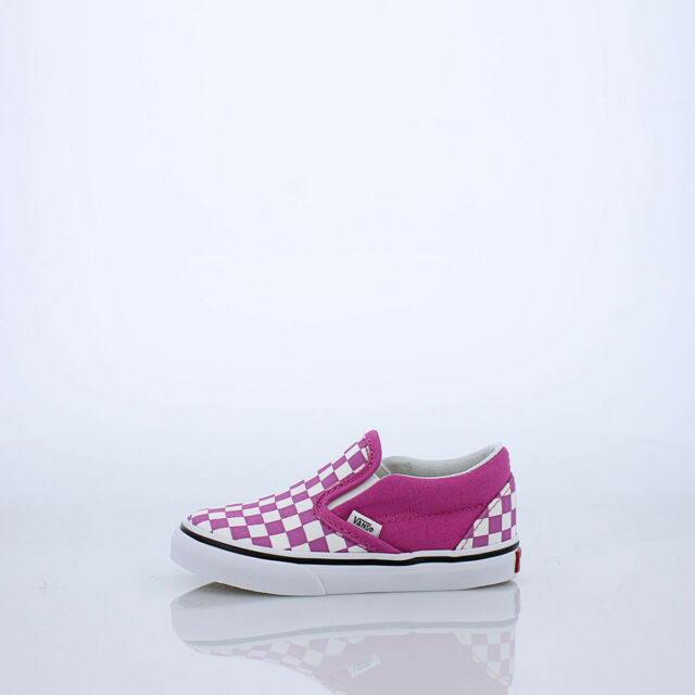 VANS Classic Slip on Checkerboard Raspberry Toddler Shoes 10 US
