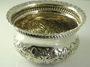 SUGAR-BOWL-VICTORIAN-SILVER-1890-EMBOSSED-FLORAL-DESIGN-JOSIAH-WILLIAMS-amp-CO