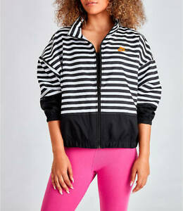 Women's Nike LA Woven Jacket Black/ White Stripes NEW   eBay