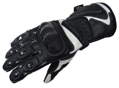 Motorradhandschuhe Leder Handschuhe XXS - XXL NEU S/W