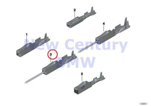 2 X BMW Genuine Contact System Mqs Contact Pin Mqs 0.2-0.35MM//Sn E36 E38 E39 E46