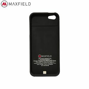 schutzh lle f r iphone 5 5s schwarz kabellos laden case induktion maxfield ebay. Black Bedroom Furniture Sets. Home Design Ideas