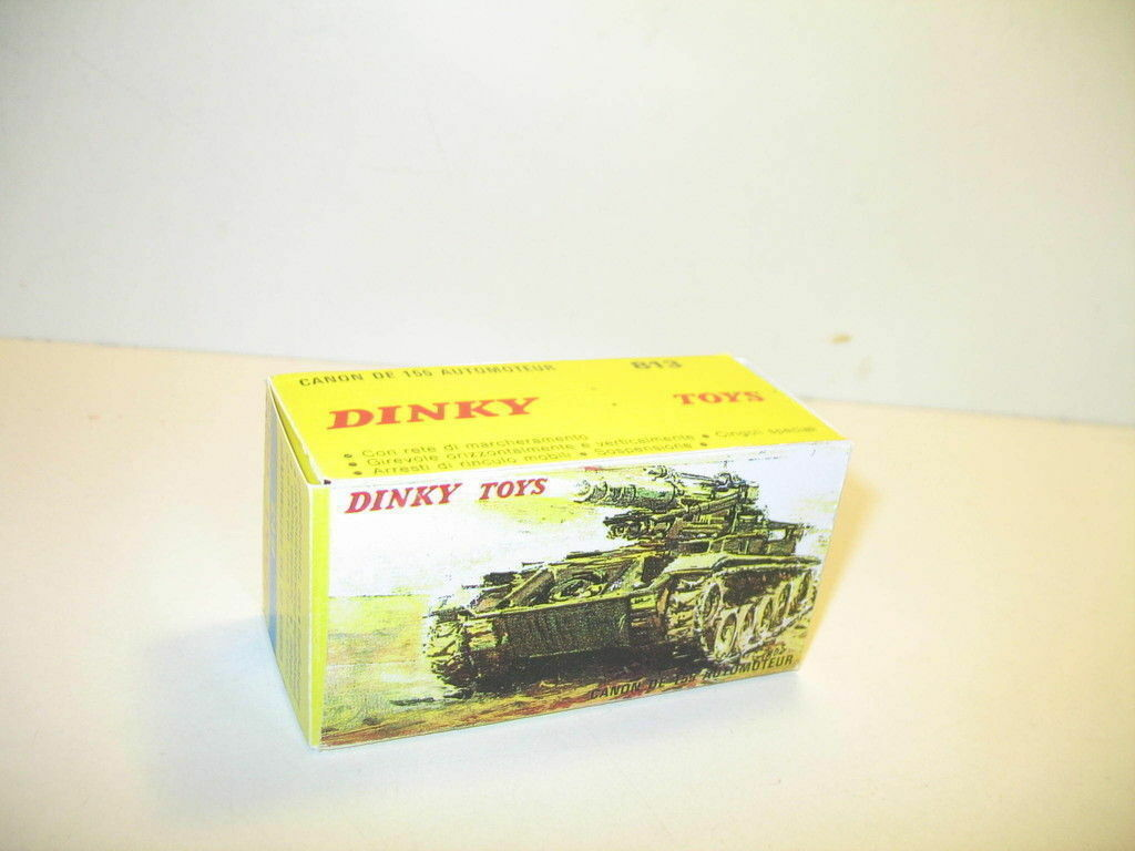 N36, BOX char AMX self propelled military 813 DINKY toys, Military