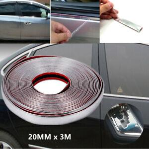 3M Silver Car SUV Chrome DIY Moulding Trim Strip For Grille Window Door Bumper