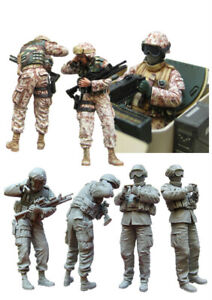 1//35 Scale Resin Model Modern kit US Special Forces Operators Unpainted