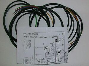 IMPIANTO-ELETTRICO-ELECTRICAL-WIRING-MOTO-DUCATI-125-175-200-SCHEMA-ELETTRICO