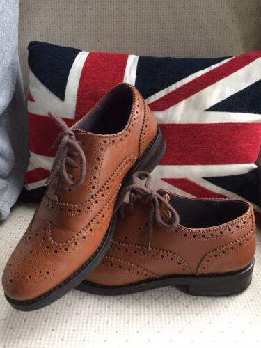 Una scarpe Samuel le 5 cuoio Windsor mano indossato Uomo volta 7 Tutte Brogue Uk in a fatte IwwHT6q