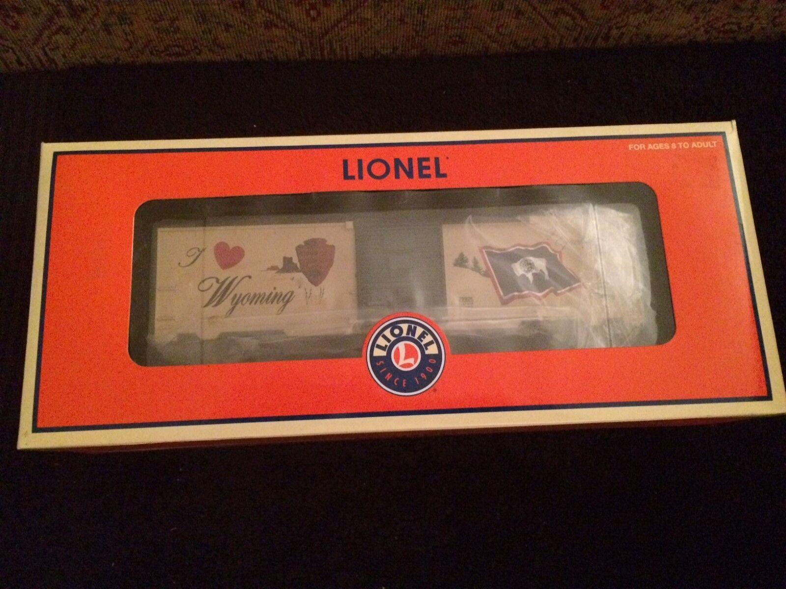 Lionel 29936 I Love Wyoming Box Car Nuovo in Box