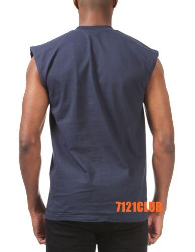 PRO CLUB SLEEVELESS T SHIRTS MENS HEAVYWEIGHT MUSCLE TANK TOP BIG AND TALL M-7XL