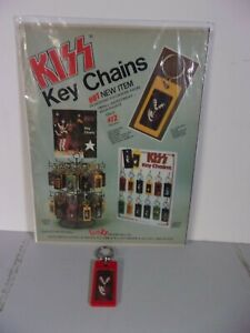 Kiss Aucoin 1978 Rare Funky solo Gene Keychain & Original Vintage ad page-- Wow!