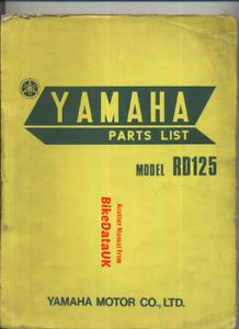 Yamaha-RD125-73-75-Genuine-Factory-Parts-List-Catalog-Manual-Book-RD-125-BX54
