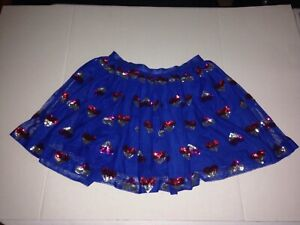 Girls/' Tutu Skirt With Heart Sequins by Cat /& Jack Blue XL 14//16
