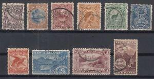 F3187-NEW-ZEALAND-1898-USED-SEMI-MODERN-LOT-CV-265