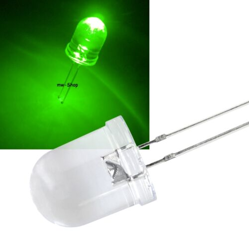 50 super brillante LEDs verdes 10mm 28000 MCD LED verde