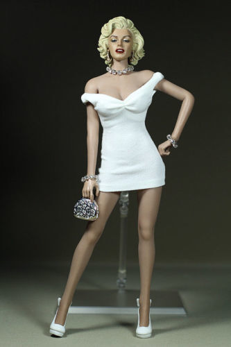 "1//6 Scale Marilyn Monroe Short White Dress Mini Skirt F 12 /""Female Figure Body"