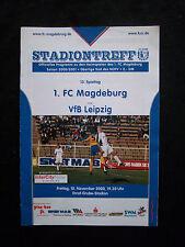 Orig.PRG   Oberliga Süd  2000/01  1.FC MAGDEBURG - VfB LEIPZIG  !!